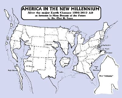 Future Map Of The Us After 2012 Apocalyptic Post   Ponderings of the Apocalypse: Post Apocalyptic