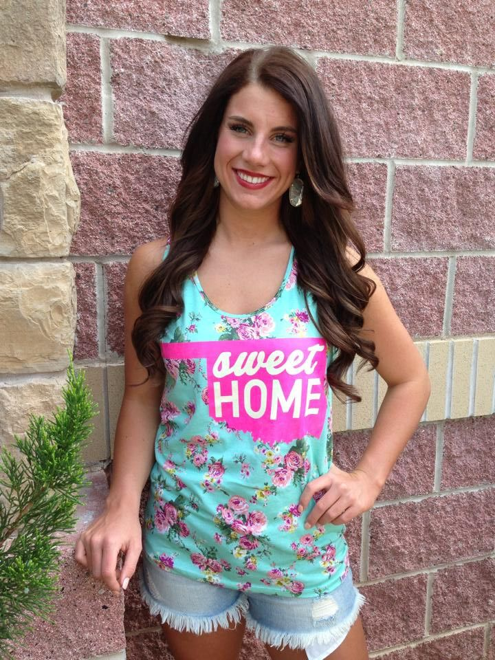 Sweet home floral non racerback tank top-more colors #lushfashionlounge #oklahoma #sweethome