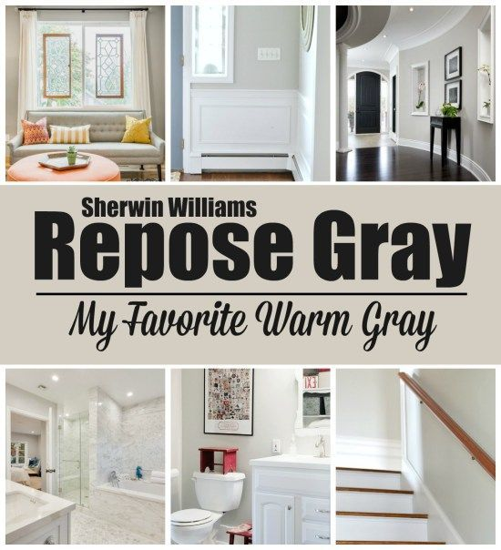 """Repose Gray - My Favorite Warm Gray Or """"Greige"""""""