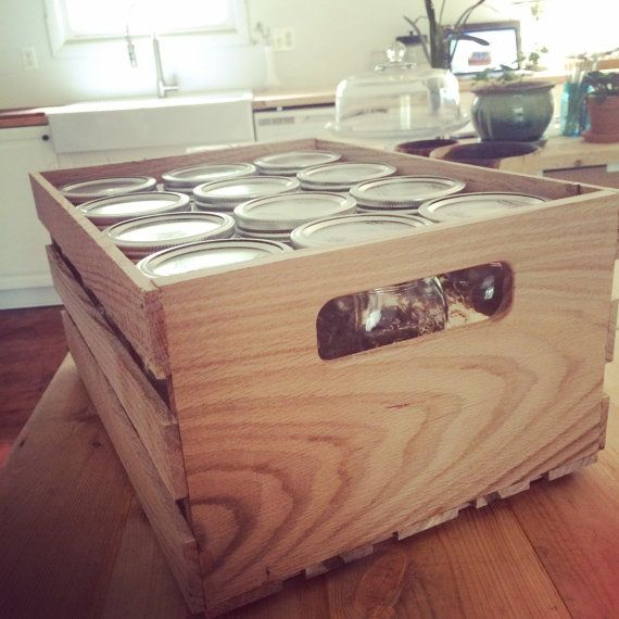 Mason Canning Jar Crates Stackable And Perfect For Storing My Canning Jars Canning Jars Crates Canning