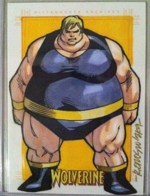 Blob Original Art Sketch Card By Ryan Orosco From My Private Collection Comic Villains Marvel Comics Comic Character