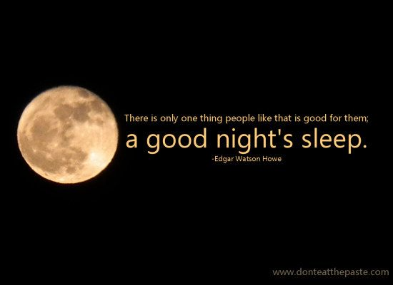 Good Night Sleep Quote Information About Ping For A New Mattress Ad