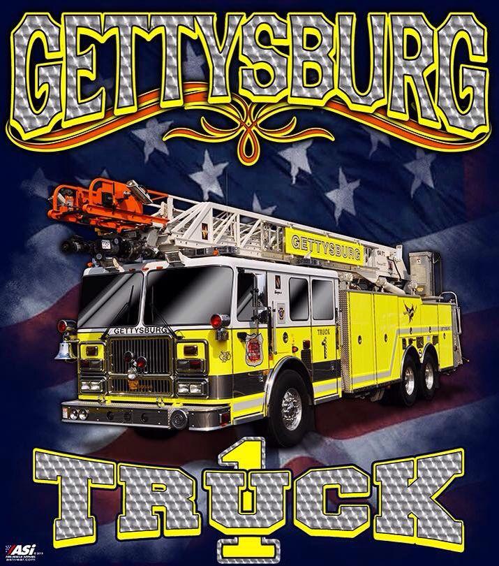 Gettysburg Fire Department Truck Company 1 new tee shirt