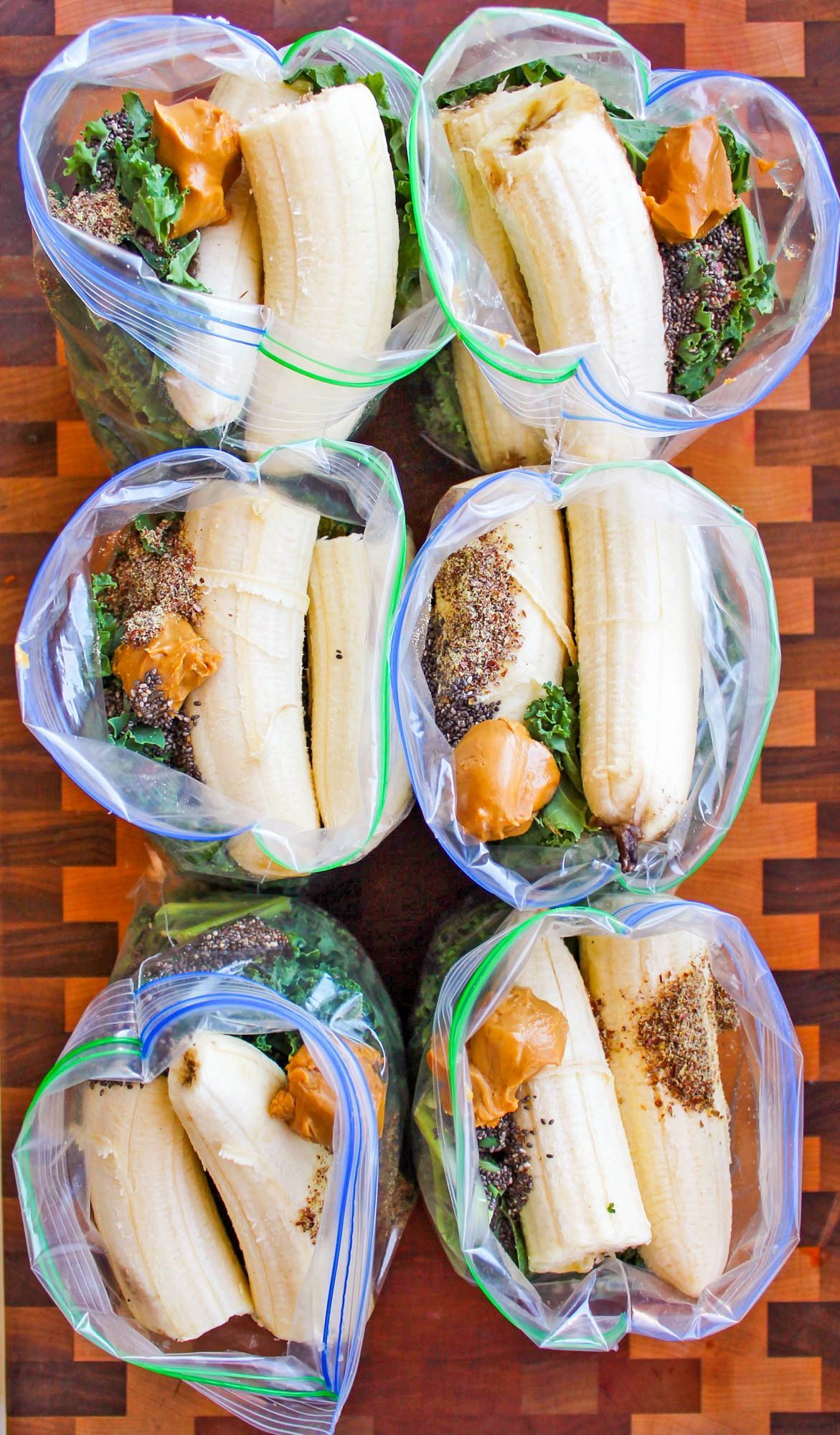 Green Smoothie Freezer Packs This recipe for Best Make-Ahead Peanut Butter Banana Green Smoothie Freezer Packs is a method of freezing smoothie ingredients ahead of time to quickly blend them in the morning. I'm so excited to share this recipe because it's one of my favorite things to make ever. Not kidding – I make this recipe about...This ...