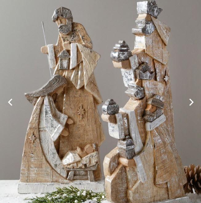 Holy Family with 3 Kings Nativity Set