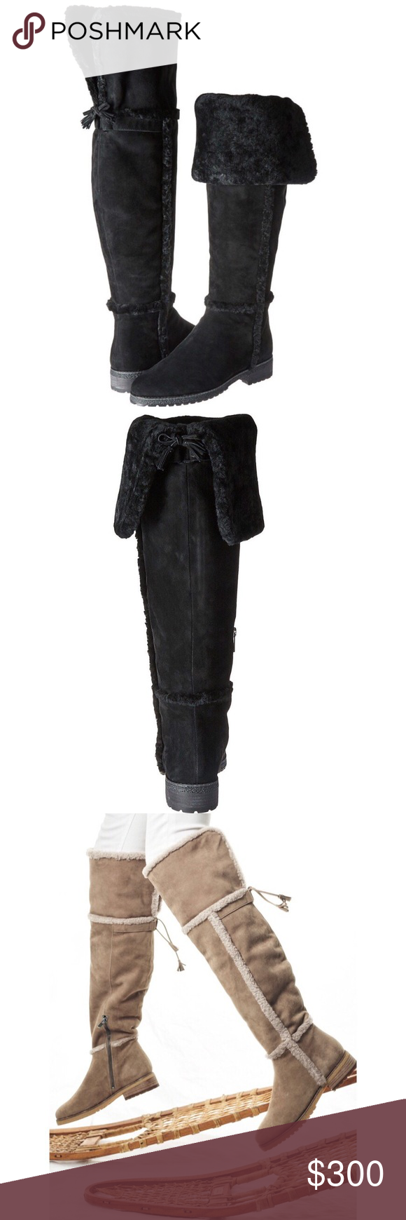 78e55df93c3 FRYE  Tamara  Shearling Over the Knee Boots Designed with function and  fashion in mind