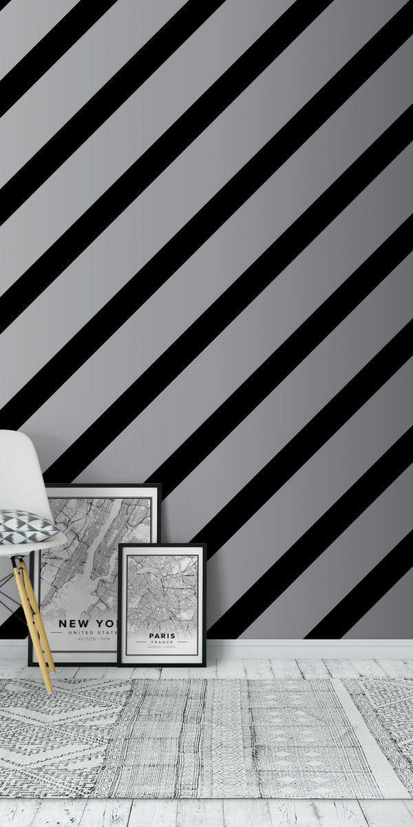 Cross BLUSH GREY Stripes Wallpaper