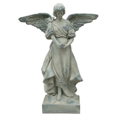 Hi Line Gift Ltd Small Angel Statue With Wings Out Pinterest