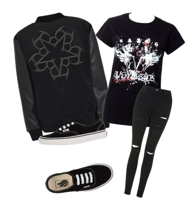 """""""Outfit #32"""" by dark-shadowx ❤ liked on Polyvore featuring Topshop and Vans"""