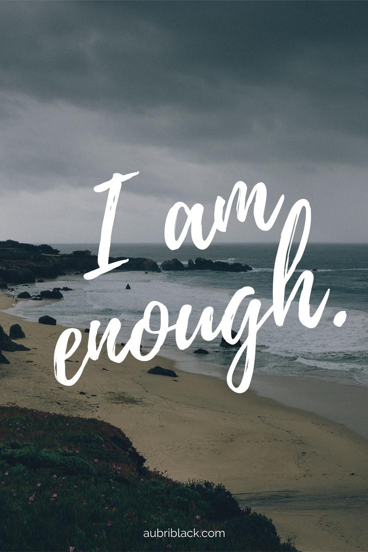I am Enough Print Marissa Peer Positive Quote Namaste