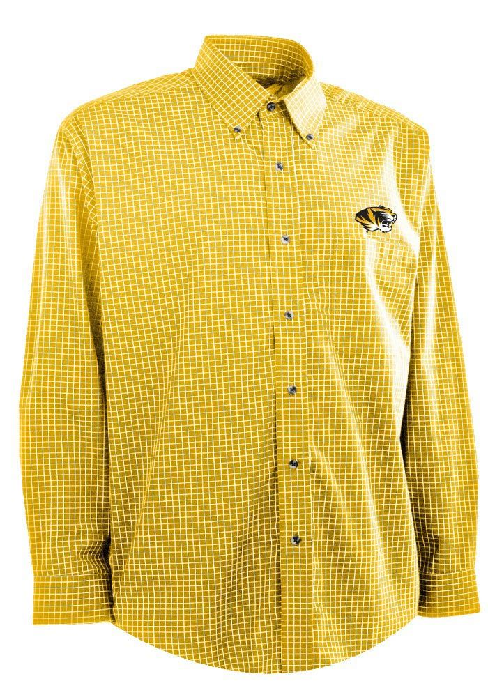 Missouri (Mizzou) Tigers Antigua Dress Shirt - Mens Gold Esteem ...