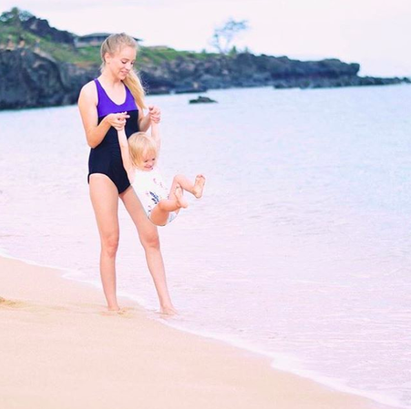 7d771fd61d1 Smoothie one-piece maternity swimsuit by Cake Maternity as seen on  @rachaelburgessmusic #rosewaterswimwearformothers