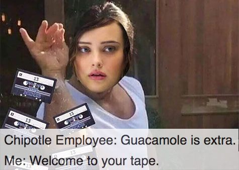 2377a34b87027b722c5a824dd493e448 13 reasons why welcome to your tape memes 13 reasons, netflix