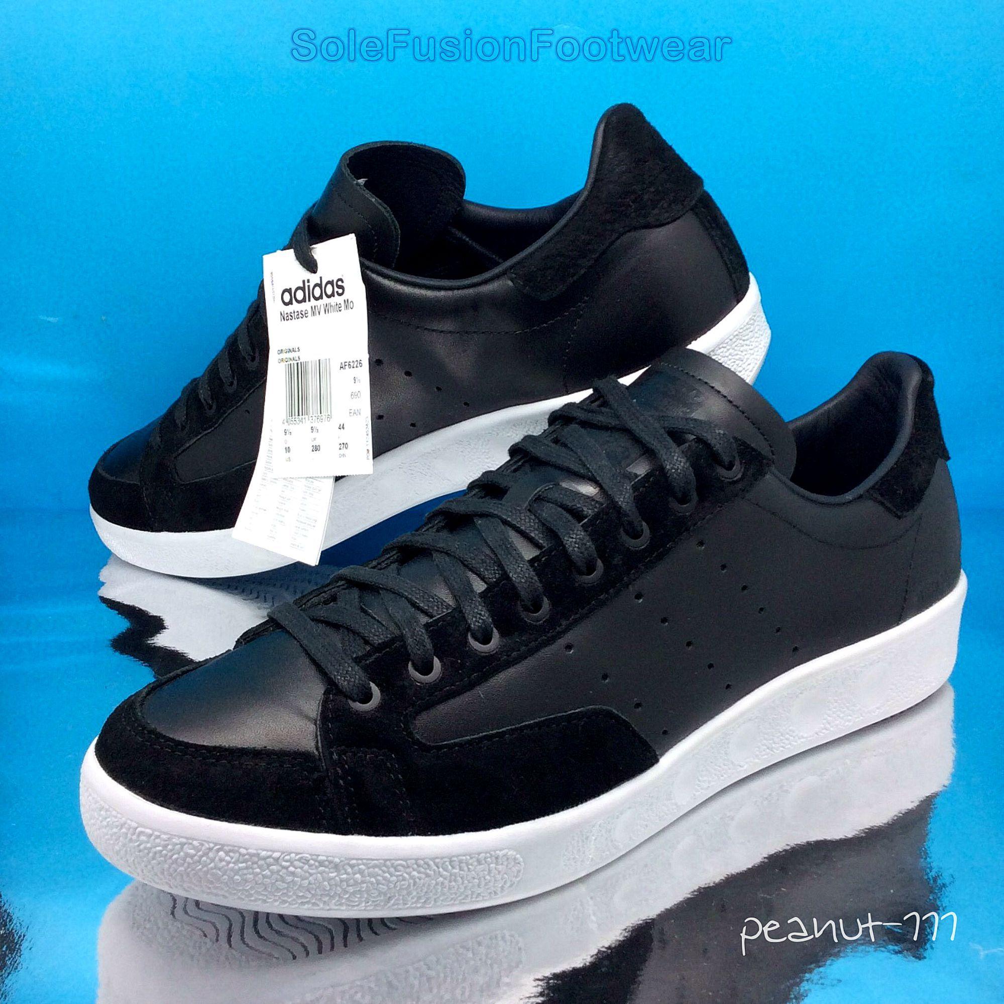 adidas mens nastase mv formatori nero bianco sz ltd