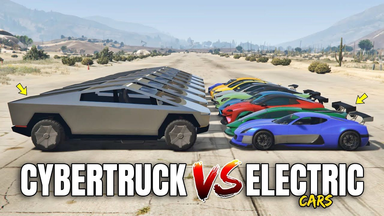 GTA 5 Online CYBERTRUCK VS ELECTRIC CARS (WHICH IS