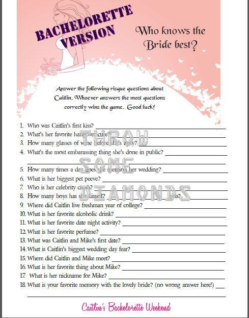 Who Knows The Bride Best Bachelorette Party