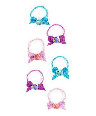 Finding Dory Glitter Bow Hair Tie - Set of Six