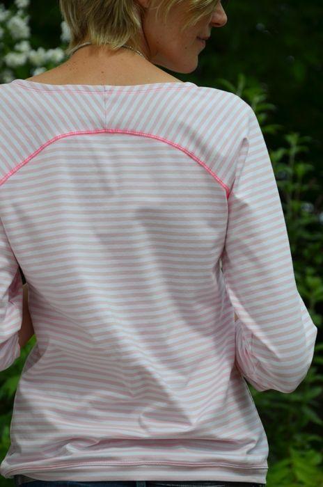 Freebook: Raglan Shirt für Damen selber nähen | Schnittmuster für ...