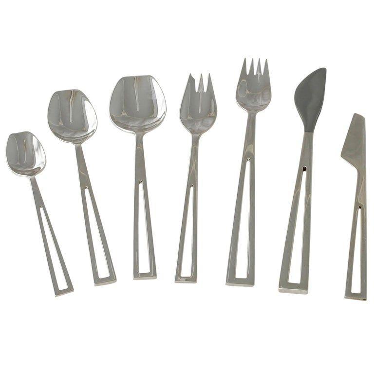 Celsa Modernist Sterling Silver Flatware Set Avanti for ...