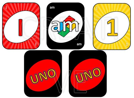 Uno Card Cards Traditional High Chair Banner Printable Digital