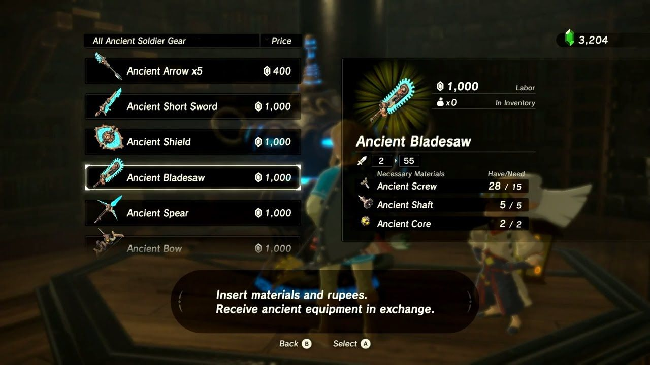 Zelda Breath Of The Wild Akkala Ancient Tech Lab Where You Can Buy