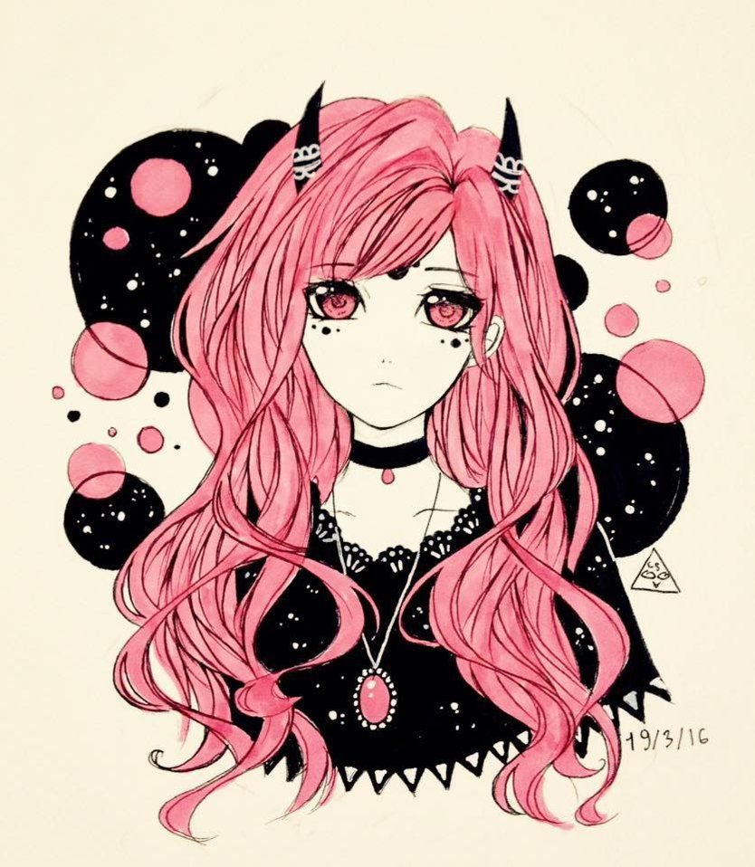 Pin By Andressa Dm On Emoscenelivin Anime Art Girl Anime Art Pastel Goth Art