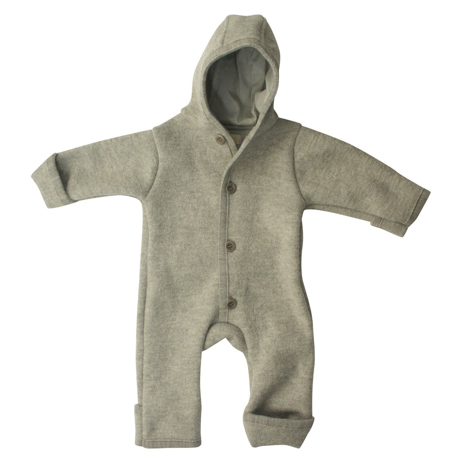 7a5de13cc Amazon.com: Disana 100% Organic Boiled Merino Wool Overall Romper (3-6  Months, Natural): Infant And Toddler Apparel: Clothing