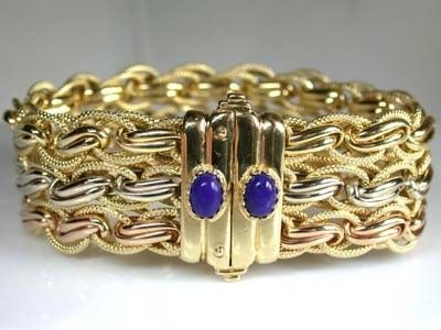 466 grams 18k italian gold bracelet with 19cm long 466 grams