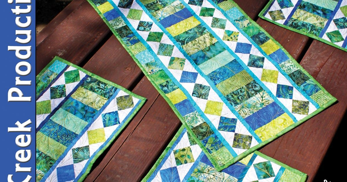 Use Those Gorgeous Jelly Rolls And Bali Pops With This Pattern One Strip Set Can Make 1 Table Runner And 4 Placemats Plus Jelly Roll Placemats Tablerunners