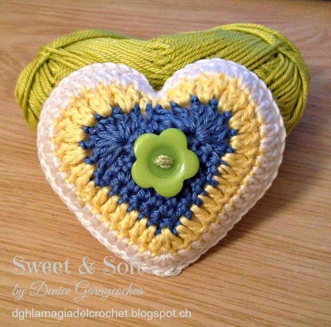 Corazones de crochet para San Valentín, descubre cómo hacerlos con ...