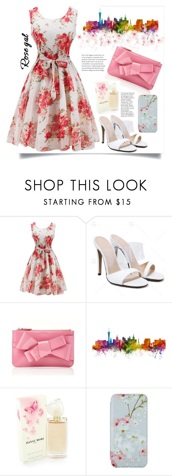 """""""Rosegal."""" by natalyapril1976 ❤ liked on Polyvore featuring Delpozo, Hanae Mori, Ted Baker and vintage"""