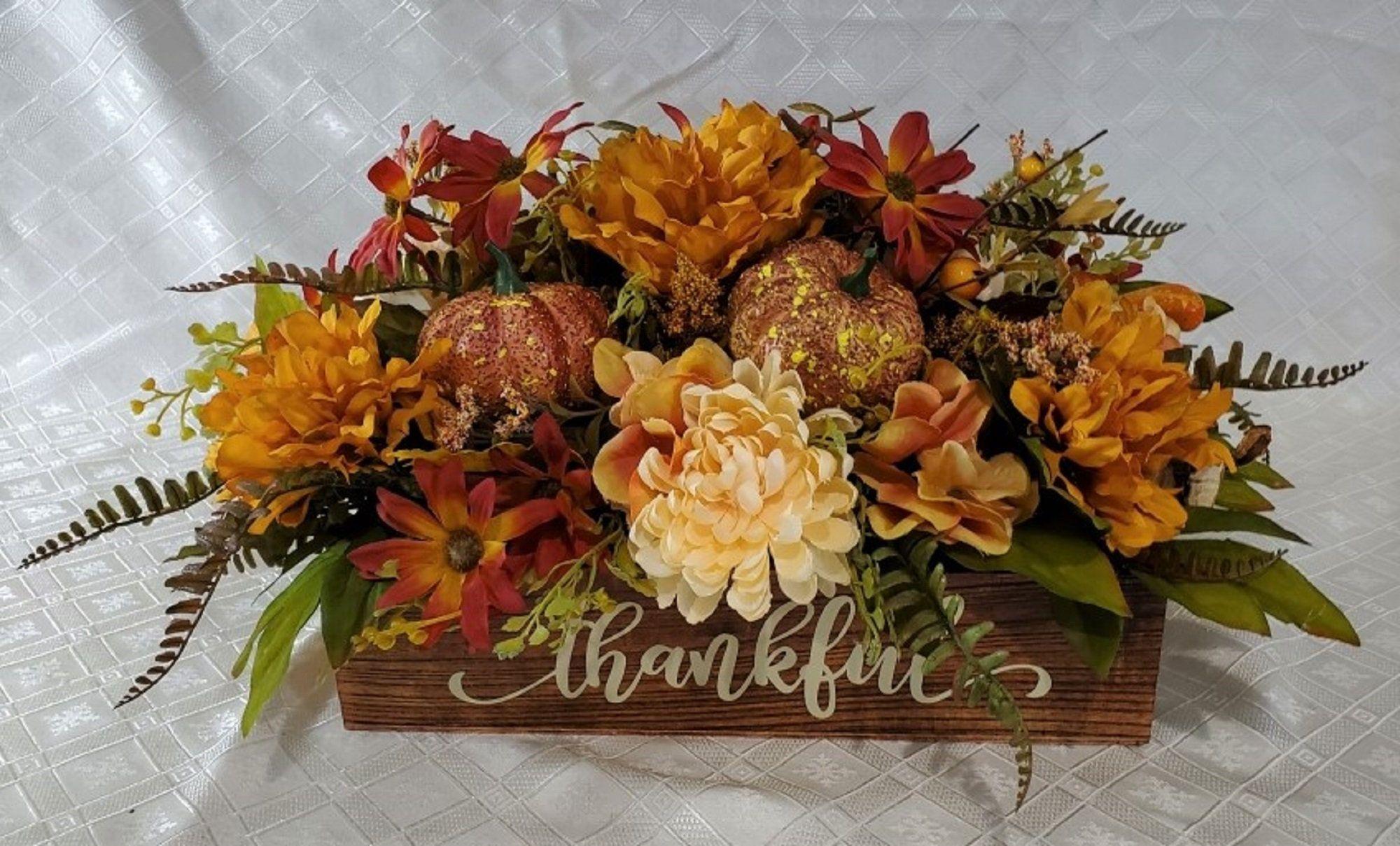 Fall Centerpiece Fall Table Decor Thanksgiving Centerpiece Etsy Fall Centerpiece Fall Table Decor Fall Table