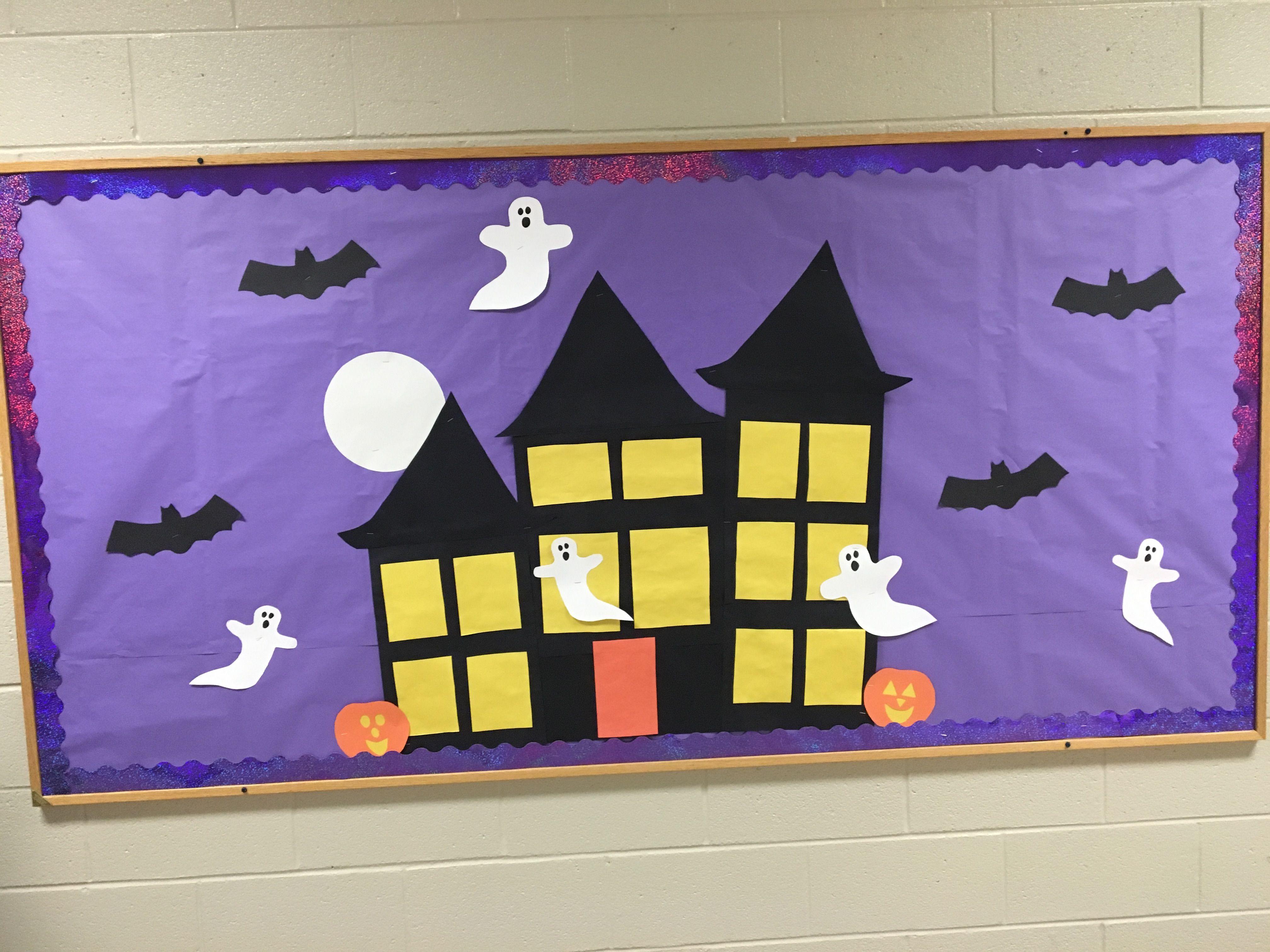 Halloween Haunted House Bulletin Board