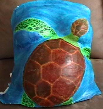 Sea turtle belly cast
