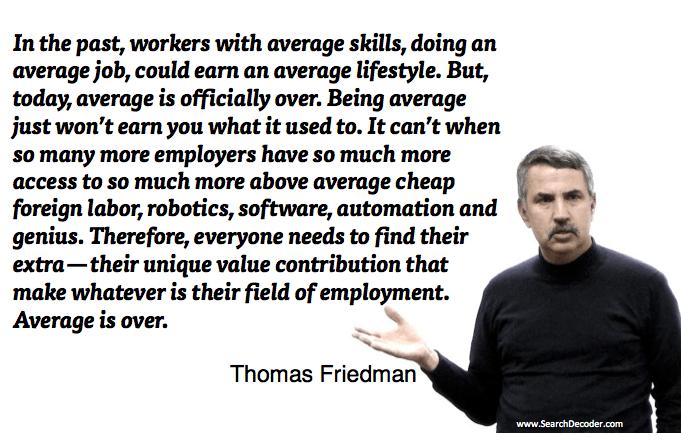 Thomas Friedman Quotes Etlobest Entrepreneurship Career Planning Job Seeker