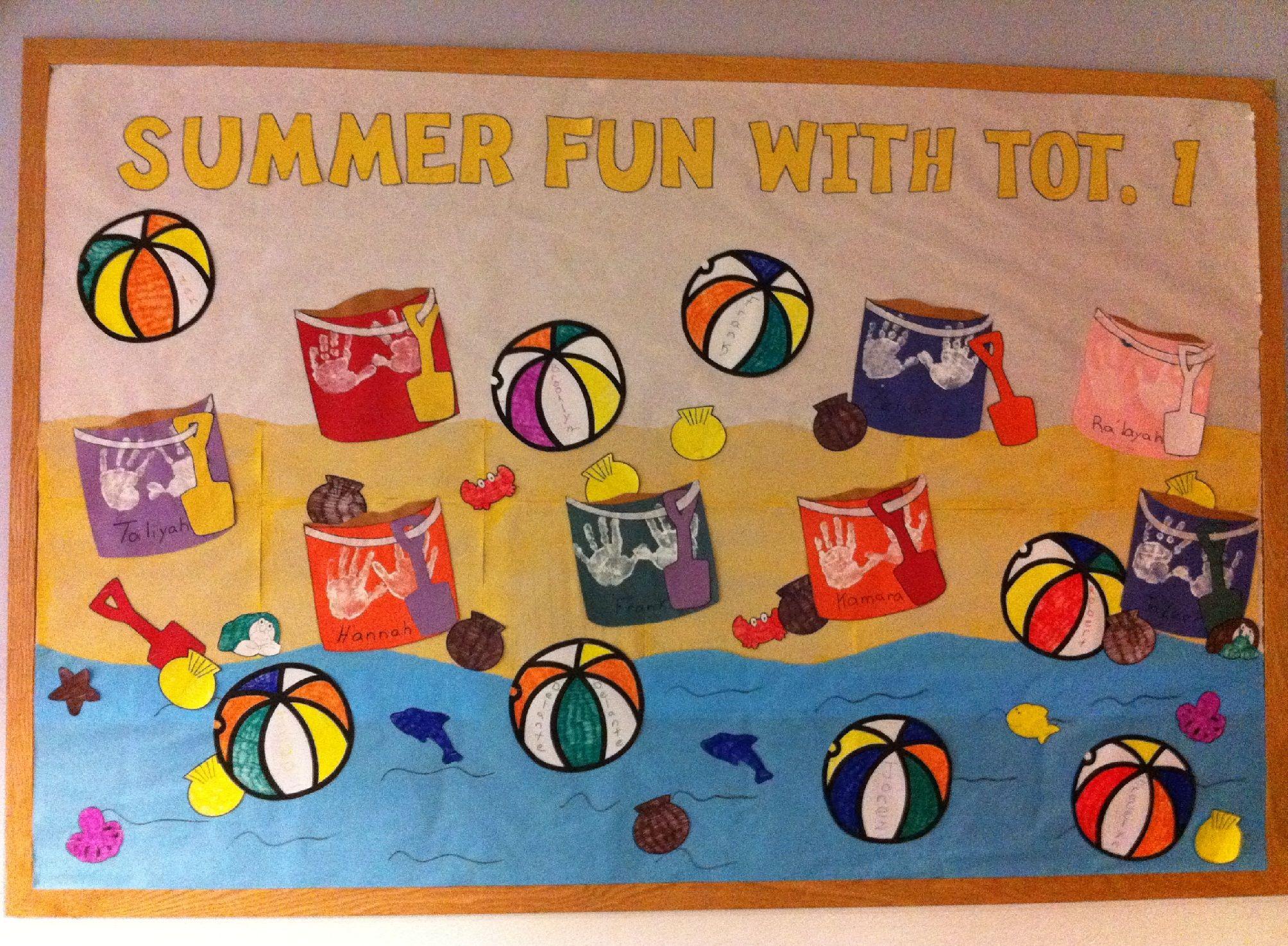 Summer Fun Beach Theme Bulletin Board Idea