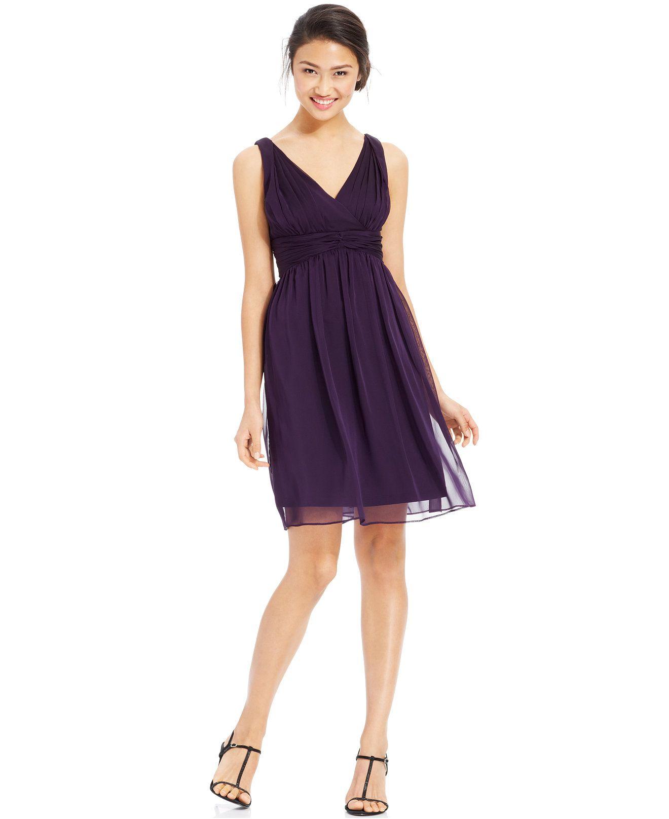 Adrianna papell sleeveless pleated empirewaist dress