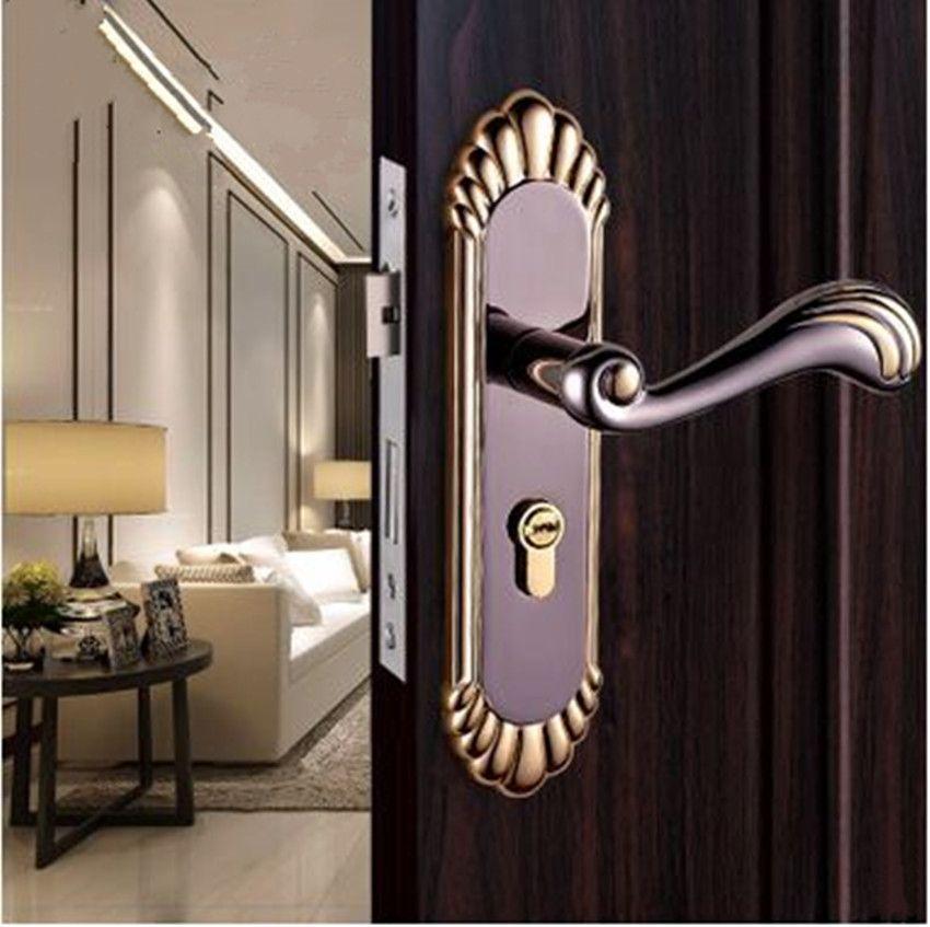 european retro interior door lock high quality solid wood. Black Bedroom Furniture Sets. Home Design Ideas