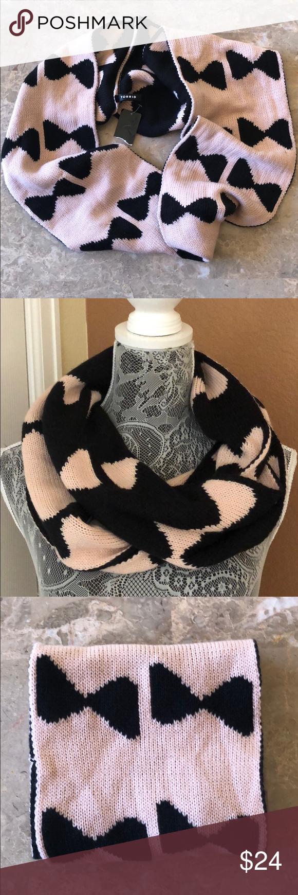 Photo of NWT Torrid Bow Tie Print Knit Infinity Scarf NWT torrid bow tie print knit infin…