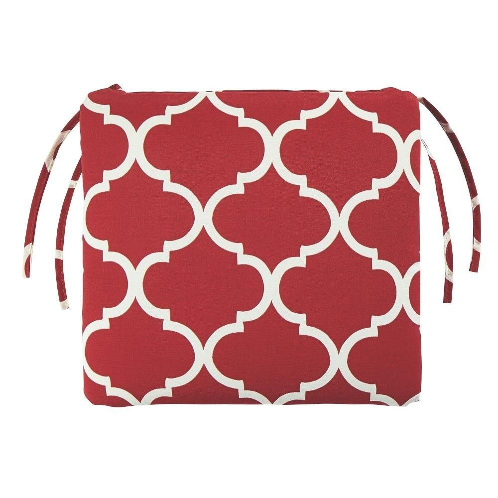 Home Decorators Collection Landview Cherry Outdoor Seat Cushion