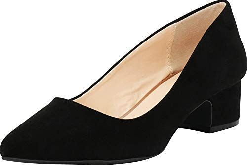 0c0d6797d54 Cambridge Select Women s Closed Pointed Toe Slip-On Chunky Low Block Heel  Pump  Pumps