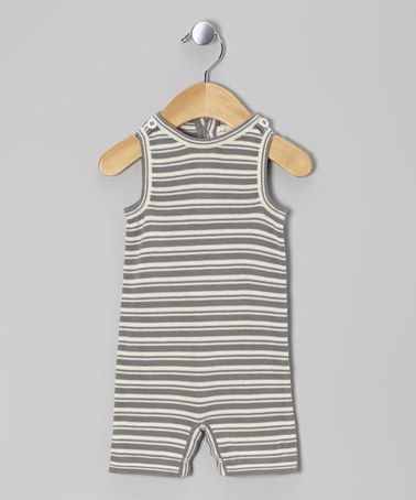 Take a look at this Plum Bunny Stripe Organic Sleeveless
