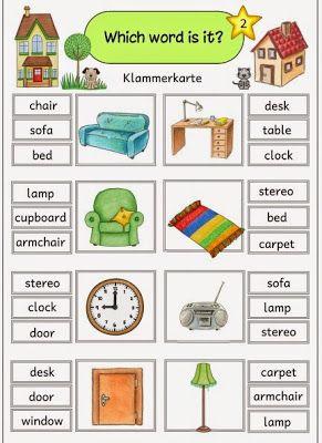 ideenreise klammerkarten at home furniture school things learn english english lessons. Black Bedroom Furniture Sets. Home Design Ideas