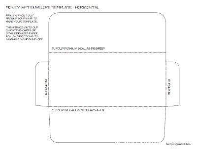 Gift Money Envelope Templates Money envelopes, Gift money and - money envelope template