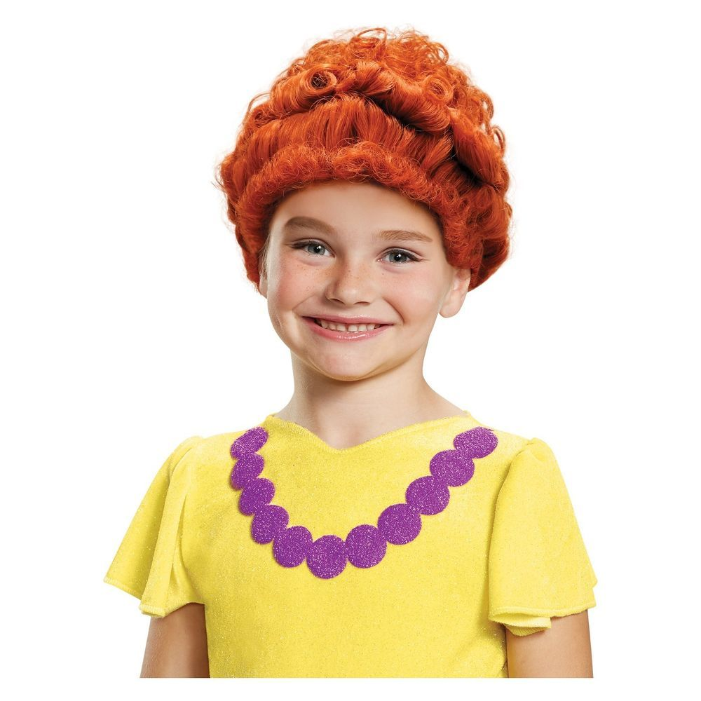 Disney Junior FANCY NANCY Halloween Costume Wig Red Hair Dress Up