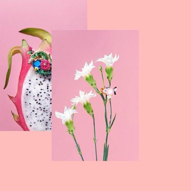 Les Nereides SS16 /🌸🌺 Photography by us / Art direction & Styling By @its_laurenkennedy / Model @riccialexandra / Dop-light @vanessakroupa 🌺🌸#studioletiquette #jewels