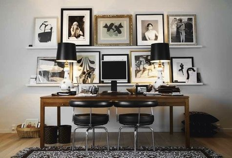 desk with art