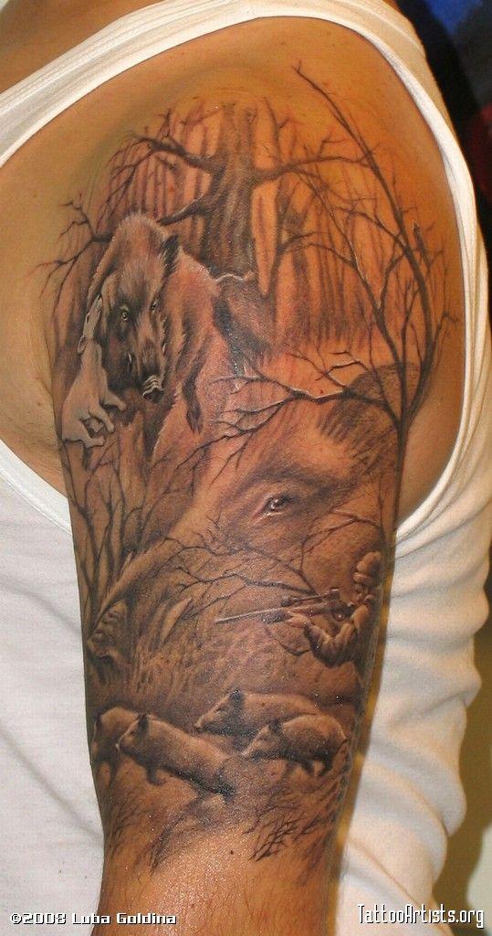deer hunting tattoos serdaraydoand 287 an 1029 tattoos rh pinterest com pig hunting tattoos designs pig hunting tattoos designs