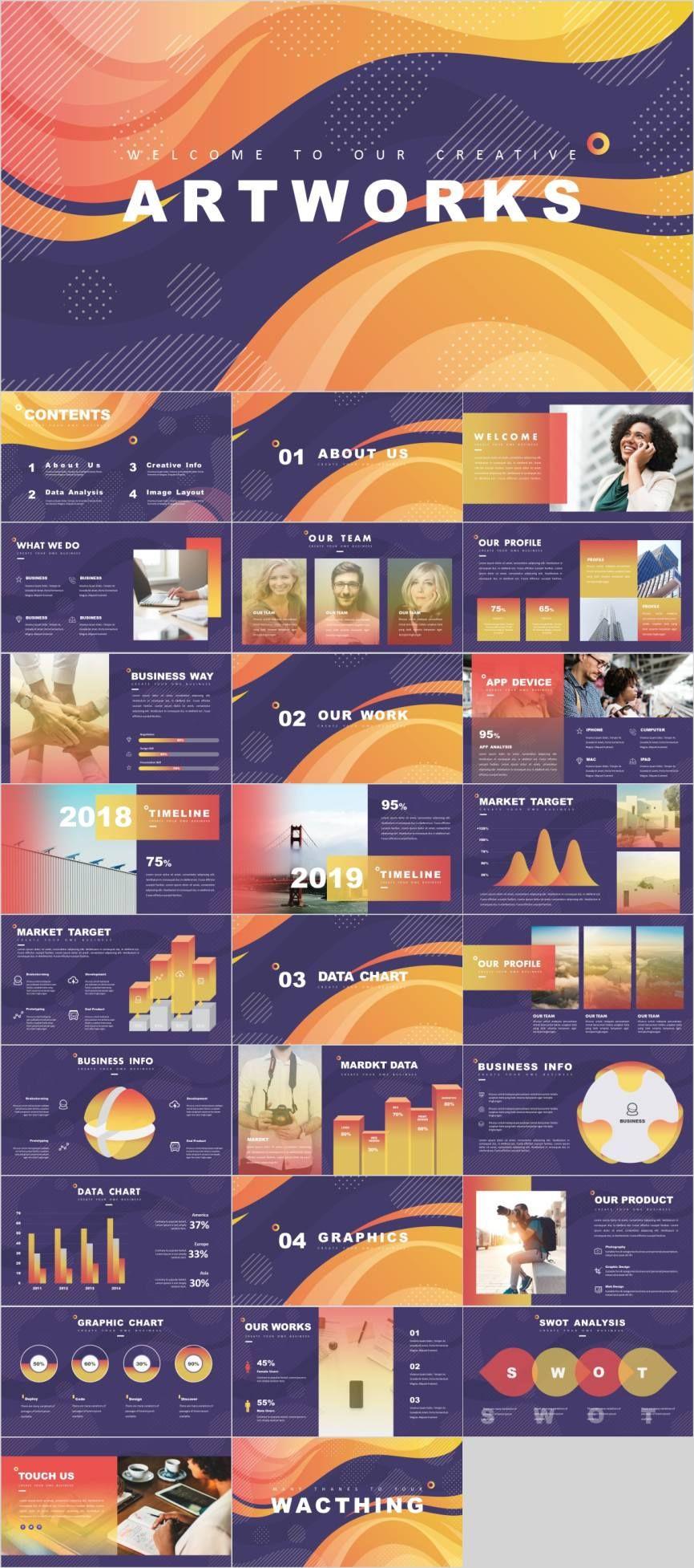 Yellow Data Analysis Report Ppt Powerpoint Design Templates