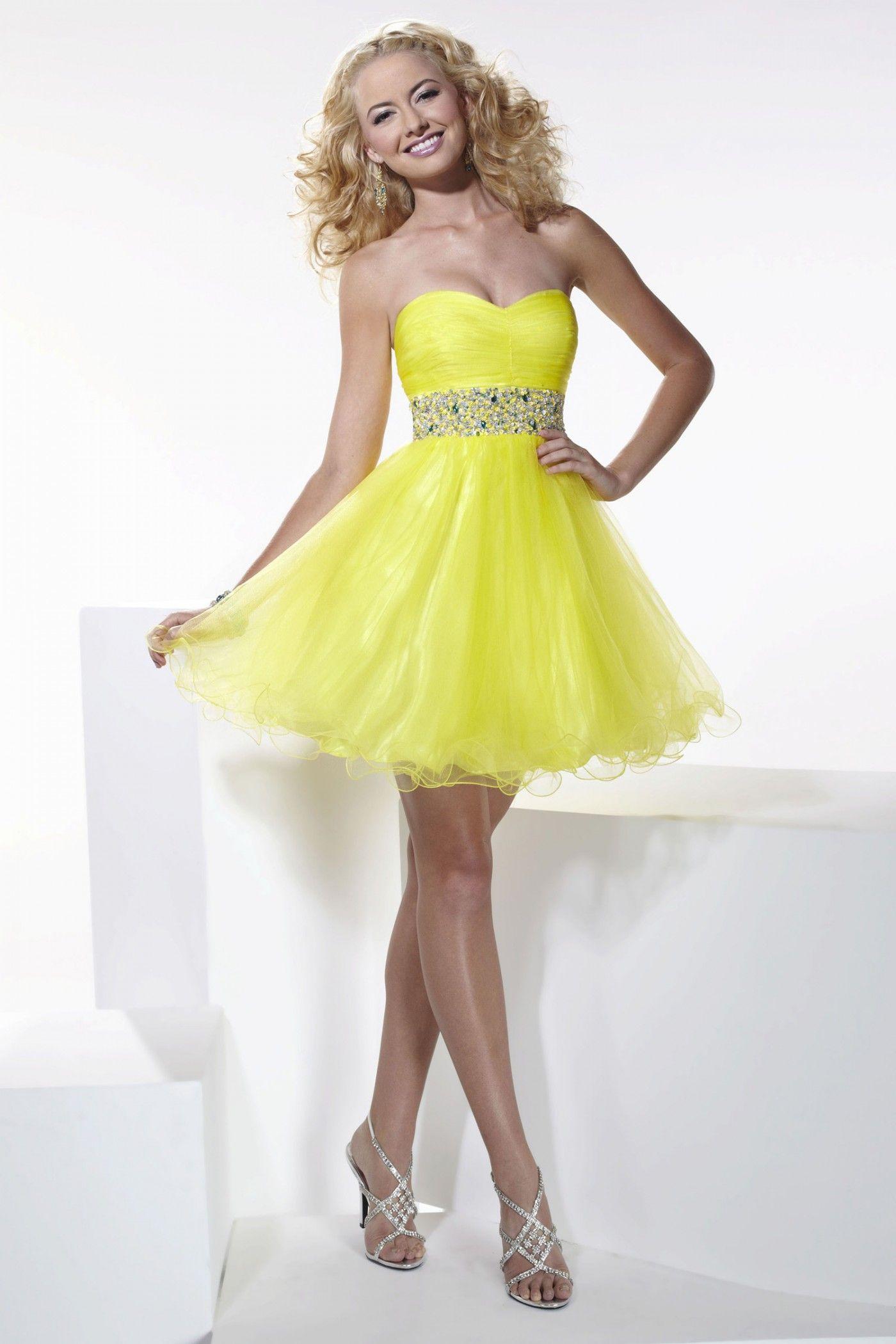 Pretty yellow short dress hannah s dresses u skirts